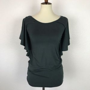 Anthropologie Ric Rac Stretch Knit Top T444